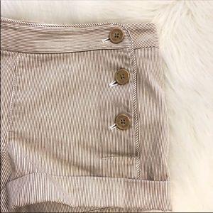 Aritzia Talula Label Sailor Button Shorts Sz 6
